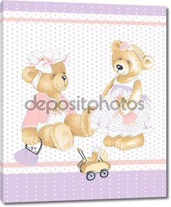Мишки девочек и детские медведи.