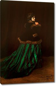 Моне Клод. Камилла или портрет дамы в зелёном платье