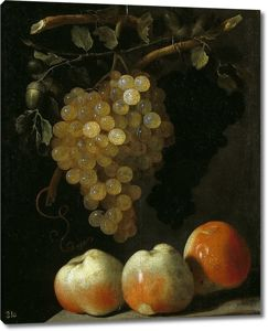 Баутиста де Эспиноса. Натюрморт с виноградом и яблоками