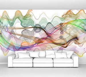 Разноцветные волнистые линии