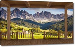 Вид с веранды на горы