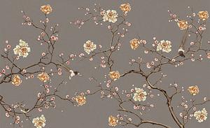 Сатиновый цветочный мотив