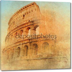 Великий античный Рим - Колизей, произведения в стиле ретро