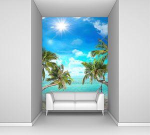 Тропический пейзаж с гамаком