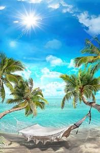 Тропический пейзаж. Гамак