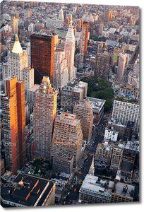 Вид с улицы Манхэттен в Нью-Йорке