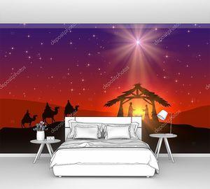 христианский рождественский фон со звездой