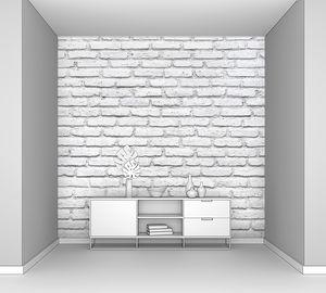 Белая кирпичная стена для фона