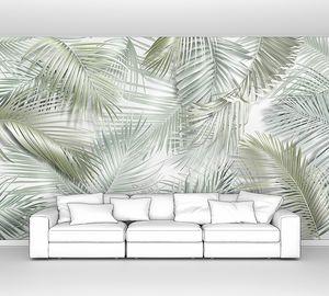 Фон из тропических листьев