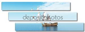 Французский военный корабль в море