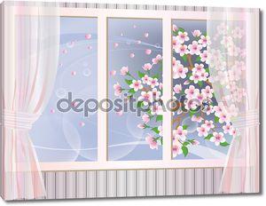 Весна. Окно