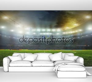 Стадион перед матчем