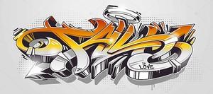 Падение Граффити Дикий стиль Вектор