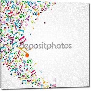 Музыка отмечает изолированных дизайн