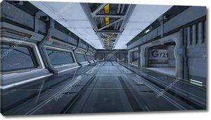Космическая станция / 3D CG рендеринг космической станции .