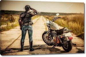 девочка мотоциклиста