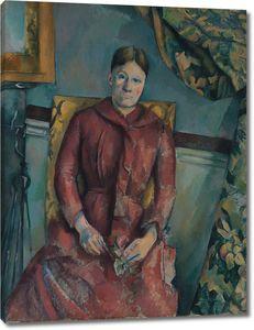 Поль Сезанн. Мадам Сезанн в красном платье