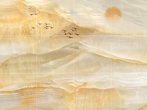 Имитация плитки из мрамора
