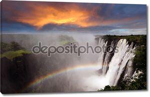 Водопад Виктория с радуги