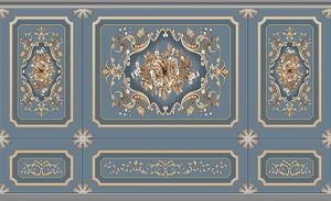 Стилизация декоративной стены с цветочными узорами