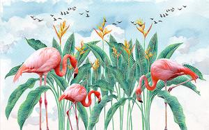 Фламинго в зарослях