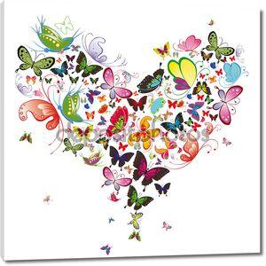 Бабочка сердце, Валентина иллюстрации. элемент для дизайна