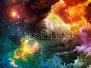 Фрактальная краска абстракция
