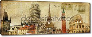 Винтажные почтовые карточки - Европейский Праздники