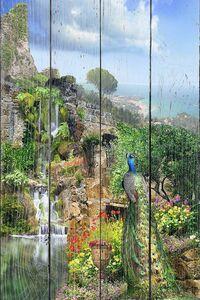 Сказочный водопад на обрыве