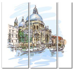 Венеция лодка фон