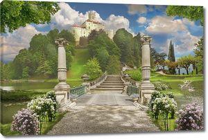 Дорога по парку ведущая к замку