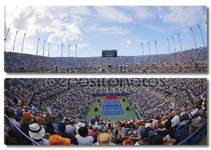 Артур Эш стадион во время церемонии открытия в США open 2014 женщины финал на Билли Джин Кинг Национальный теннисный центр