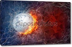 Волейбол мяч в огонь и вода