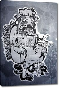 Граффити на стену