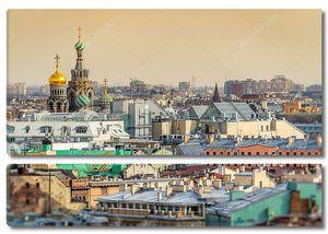 Церковь Спаса на крови купол и пейзаж Санкт-Петербург