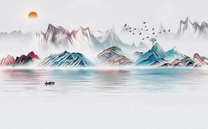 Радужный скалистый берег