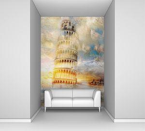 Пизанская башня в солнечных лучах