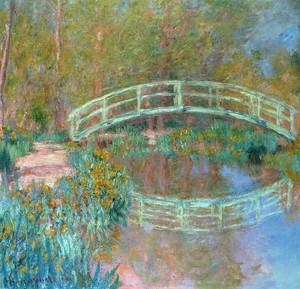 Моне Клод. Японский мостик (мостик в саду Моне), 1900