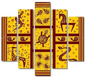 Африканский орнамент с животными