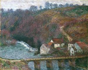 Моне Клод. Мост в Гранд Крез, 1889