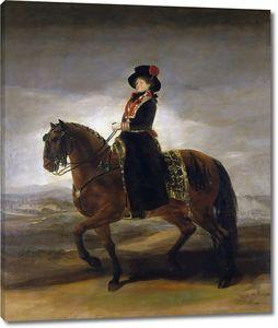 Гойя и Лусиентес Франсиско де. Королева Мария Луиза на коне