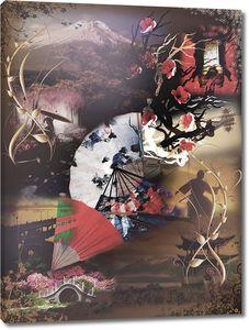 Абстракция с японскими мотивами