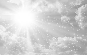 Солнце сквозь снег