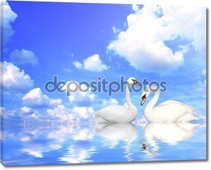 два лебедей
