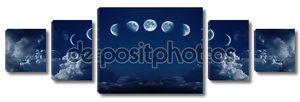 Девять этапов цикла полного роста Луны