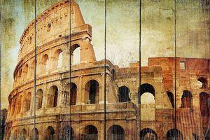 Фреска с прекрасным Колизеем