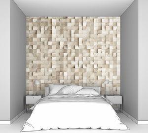 Абстрактная текстура из деревянных кубиков