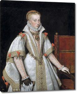 Гонсалес и Серрано Бартоломе. Королева Анна Австрийская, четвертая жена Филиппа II (копия Антониса Мора)