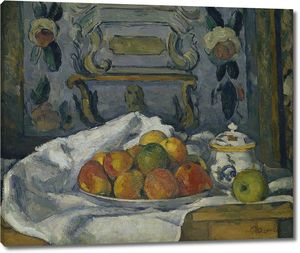 Поль Сезанн. Блюдо с яблоками