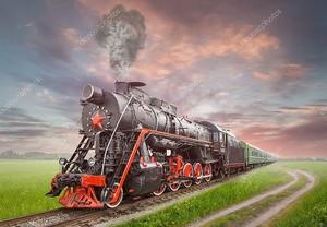 Ретро советский паровоз